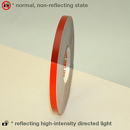 Red 3M Scotchcal Reflective Striping Tape 1 Rolls .25-Inch by 50-Foot