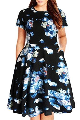 000e0c94eaf Nemidor Women Short Sleeve Loose Plain Casual Plus Size Long Maxi ...